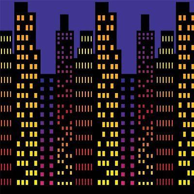 Art Deco Gatsby City Backdrop Comic Book Superhero Party Decoration Photo Booth