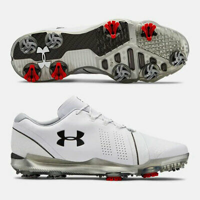 UNDER ARMOUR 2019 MEN S SPIETH 3 GOLF SHOES SIZE 8.5 M WHITE/BLACK/RED NEW 19811 - $149.95