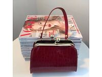 Vintage Red Patent Handbag Small