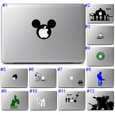 Laptop Notebook Macbook Air Pro 13 15 Cute Fun Decal Sticker Mod Design Wrap