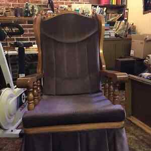 Nice upright Rocking chair Strathcona County Edmonton Area image 1