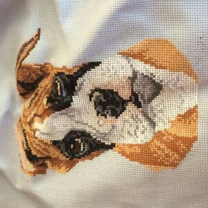 BOXER CROSS STITCH