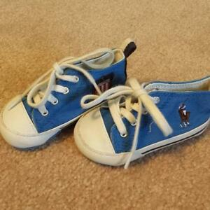 EEUC Toddler Size 3 Polo Hightop Shoes