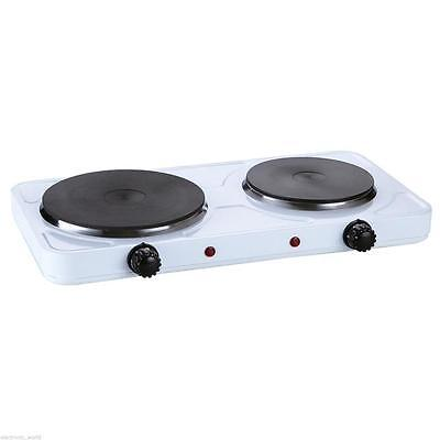 Portable Double Electric Hot Plate Hob Kitchen Cooker Table Top Hotplate Mobile