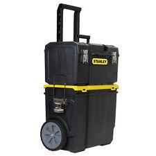 Stanley 3-in-1 Rolling Tool Box Organizer Portable Workshop Cart Storage Bin NEW