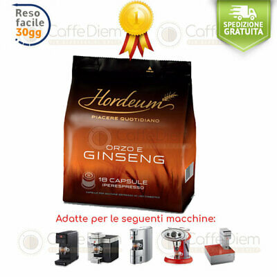 illy Ginseng Orzo e Ginseng illy Iperespresso 54 Capsule Cialde HORDEUM