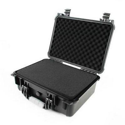 "Black Tactical weatherproof equipment 16"" case Vertex Icom Motorola CP200 radios"