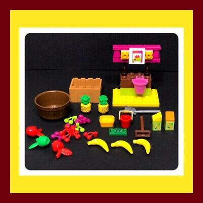 ❤️ LEGO Minifig Accessories FRUIT STAND Custom furniture food pineapple apple ❤️