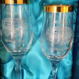SET OF 2 WEDDING GLASSES