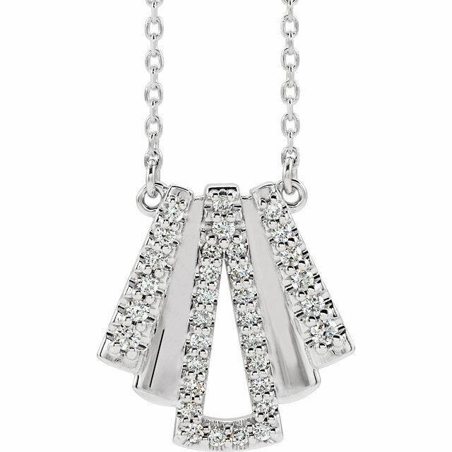 Diamant Art Déco Halskette IN Platin (15 CT Tw