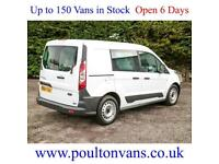 2014 (64) FORD TRANSIT CONNECT 220 L1 H1 SWB 5 SEAT CREW VAN COMB 95PS,Small