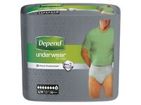 Incontinence pads and Mens incontinence underwear for sale
