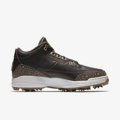6e3d22bb0804 Nike Air Jordan 3 Premium Brown Bronze Golf Shoes Size 9.5 DS Brand New