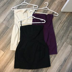 3 French Connection (Wizard Strapless) Dresses - Size 8