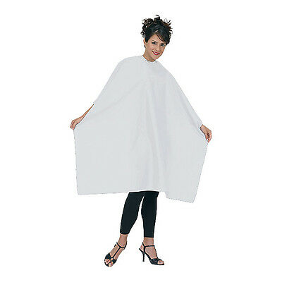 Betty Dain Hair Salon Styling Cape Nylon 45x55 White Velcro Closure #199 M I USA