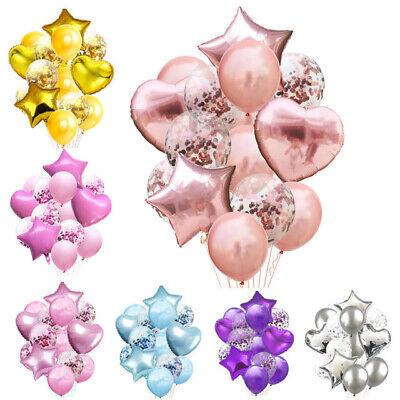 14pcs/set Wedding Birthday Balloons Latex Foil Ballons Kids Boy Girl Baby - Baby Girl Balloons