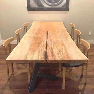 BEAUTIFUL LIVE EDGE DINING ROOM TABLES / STUDIO126YVR