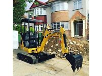 MINI DIGGER HIRE & EXPERIENCED DRIVER - COVERING KENT, LONDON & ESSEX