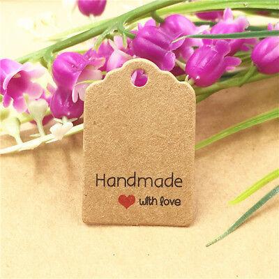 100 x Preisetiketten Handmade with love Preisschilder Hängeetiketten Handarbeit