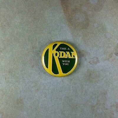 "Vintage Style Advertising Art  Pinback Button  1"" Kodak Camera Photography"