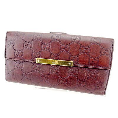 Auth GUCCI purse Wallet GUCCI Shima unisexused T2550