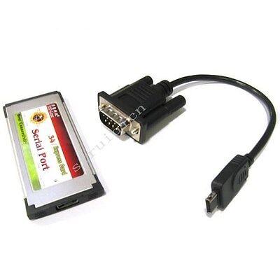 Hidden ExpressCard 54mm/34mm to 1 Port RS232 Serial Com Adapter Card OX952 win8