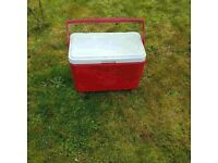 USED RED AND WHITE COLEMAN BOX