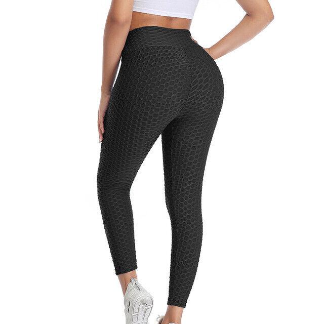 Damen Anti Cellulite PUSH UP Yoga Leggings Hohe Taille Jogginghose Schlank Hosen
