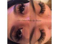 Mink eyelash extensions £25