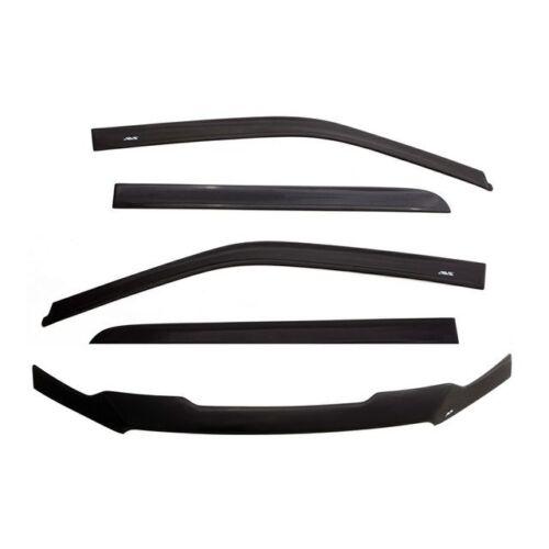 Auto Ventshade Combo Kits Ventvisor/Bug Shield Combo; Matte Finish; 56007003