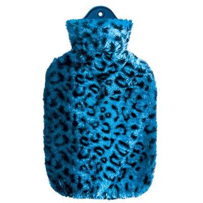 Wärmflasche mit Schneeleopard-Bezug Wärmeflasche 1,5 L Wärmetherapie Wärmekissen