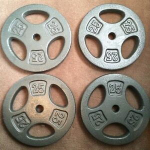 Weight Plates - 25lbs X 4 Plates - BRAND NEW.
