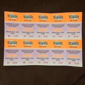 20 Durham Region Transit (DRT) Tickets