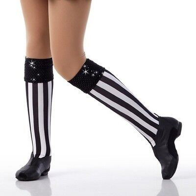 Make The Call Dance Costume MOCK SOCKS ONLY Matches Baseball Referee Child Sizes