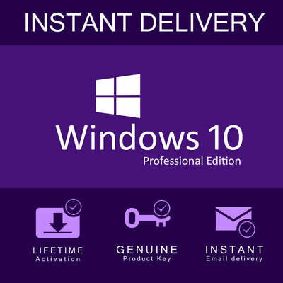 Windows 10 Pro Professional Activation Code 32/64bit Licence Key Genuine Product