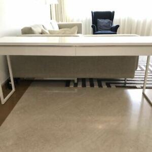 IKEA BESTÅ long—high gloss desk