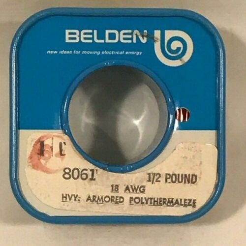 Belden 8061 Heavy Armored Polythermaleze Wire 18 AWG - Partial Spool - 6 Ounces