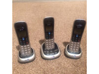 BT Cordless trio phone set