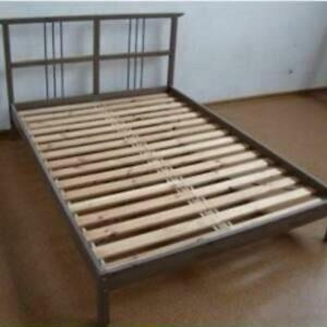 Bedframe with mattress -  (IKEA)