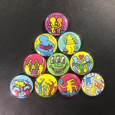 Keith Haring Buttons Pins badges x 20 1980/'s pop art street art