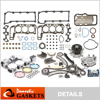 02-03 Jeep Liberty Dodge Ram 1500 3.7L SOHC Engine Rebuilding Kit Graphite VIN K (Engine Rebuilding)