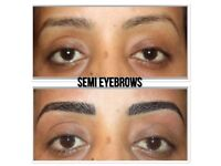 ONLY £69 MICROBLADING/SEMI PERMANENT MAKEUP EYEBROWS, INDIVIDUAL EYELASHES FULL SET £40