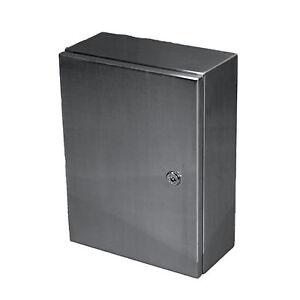 Gehäuse aus Edelstahl für z.B. Schaltschrank 200x300x150mm (BxHxT) Nr. 4075.1390
