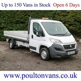 2015 (65) FIAT DUCATO 35 12'9 L3 LWB ALLOY SIDED DROPSIDE PICK UP (NOT TIPPER)