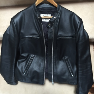 Bristol  Men's Classic Leather Motorcycle Jacket