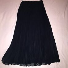 Long black pleated size 12 skirt Edgecliff Eastern Suburbs Preview