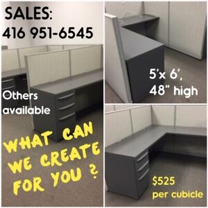 EXCELLENT COND. USED CUBICLES: SUPPLIED, DELIVERED & INSTALLED