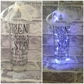 Friends are like stars light up bottles