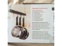 HANGING PAN RACK BRAND NEW £10.