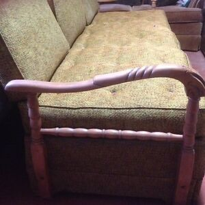 Antique Green Sofa